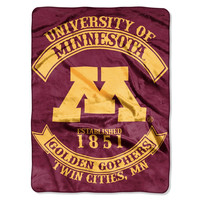 "Minnesota Golden Gophers 60""x80"" Royal Plush Raschel Throw Blanket - Rebel Design"