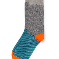Grey and Blue Stripe Boot Socks
