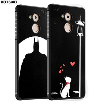 Batman Dark Knight gift Christmas HOTSWEI Case For Huawei Honor 6C 6A Back Cover SLIM 3D Cartoon Animal Batman Rubber Armor Protective Case for Huawei Honor 6A 6C AT_71_6