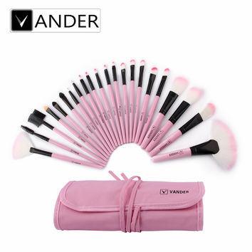 VANDER 22 Pcs Professional Soft Cosmetic Makeup Brushes Set Kit With Makeup Pouch Bag Woman Make Up Tools Pincel Maquiagem Gift