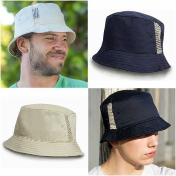 Mens Womens Ladies Bucket Sun Hat Summer Beach Fisherman Hat Washed Cotton