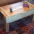 reclaimed pallet wood coffee table with storage noah by timsway