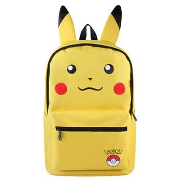 Student Backpack Children FVIP Pokemon Backpack Pikacun Students School Bags for Boys and Grils Student Bags Cartera Mochila Escolar Children Daily bags AT_49_3