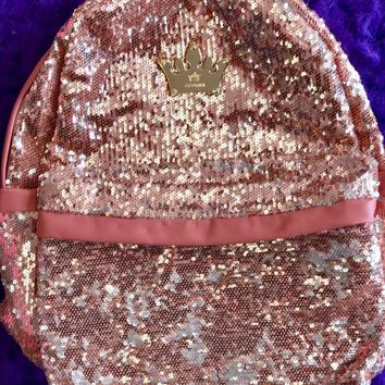 Princess Pink Champaign Sequin backpack