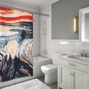 "Art at Home The Scream Design Fabric Shower Curtain Size: 70"" x 72"""