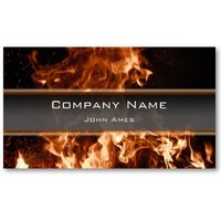Burning Inferno Business Card from Zazzle.com