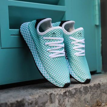 shosouvenir Adidas Deerupt Runner  Trifolium grid running shoes
