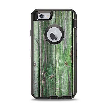 The Mossy Green Wooden Planks Apple iPhone 6 Otterbox Defender Case Skin Set