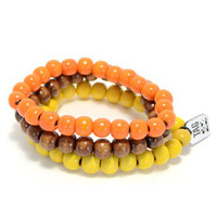 3 Pack Bracelet Set Orange/Yellow/Brown