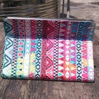 Leather iPad Mini Case - iPad Mini Stand Case - iPad Mini Smart Cover - Aztec iPad Mini Case - Tribal Print iPad Mini Case Cover