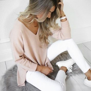 Jasper Blush Sweater by DREAMERS
