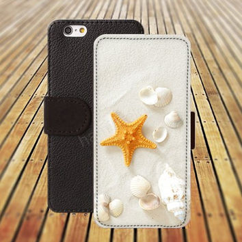 iphone 5 5s case beach Sunshine Shell flowers iphone 4/4s iPhone 6 6 Plus iphone 5C Wallet Case,iPhone 5 Case,Cover,Cases colorful pattern L205