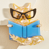Poetry and Purrs Pin | Mod Retro Vintage Pins | ModCloth.com