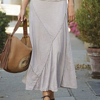 Crinkled Knit Maxi Skirt / Softly Crinkled Striped Maxi Skirt -- Orvis
