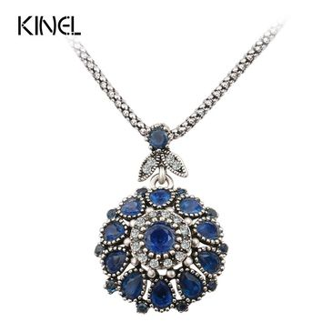 Fashion Resin Silver -Plated Pendant Necklace