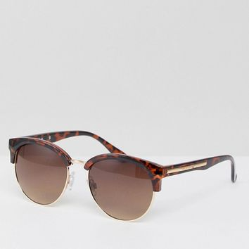 River Island Retro Bar Sunglasses at asos.com