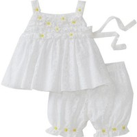 Kate Mack Baby Girls' Daisy Mae Top And Bloomer Set