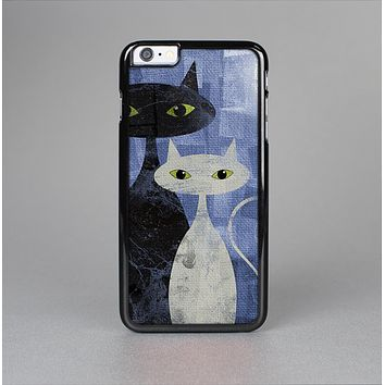 The Blue Grungy Textured Cat Skin-Sert for the Apple iPhone 6 Skin-Sert Case