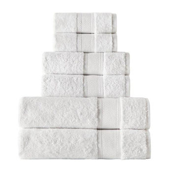 White Turkish Cotton Bath 6 Pc Towel Set