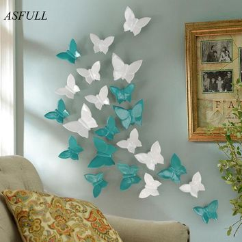 DKF4S Simple modern three-dimensional mural wall butterfly decoration home free shipping wall sticher home decoration accessories