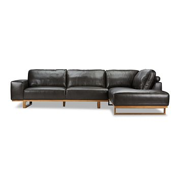 Hauser 2pc Leather Sectional Sofa