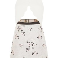 Cut Out Floral Sleeveless Dress