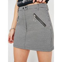 Rad Show Houndstooth Skirt