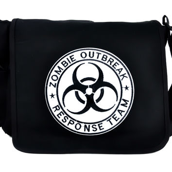Zombie Outbreak Response Team School Messenger Crossbody Bag