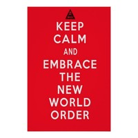 Keep Calm and Embrace The New World Order Illuminati Poster
