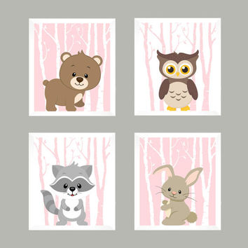 Nursery Decor, Baby Decor, Wall Art, Wall Decor, Woodland Nursery, Forest Animals, Baby Print, Nursery Print, Animal Print, Woodland Animals