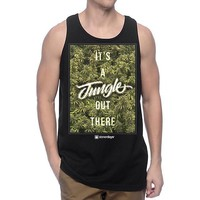 MENS ITS A JUNGLE OUT THERE TANK