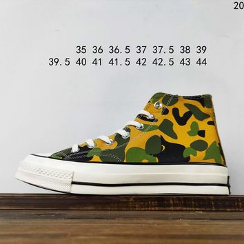 Kuyou Fa19630 Converse 1970s Camouflage High Top Canvas Shoes