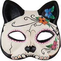 Day of the Dead Sugar Skull Cat Mask