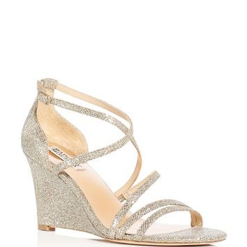 Badgley MischkaBonanza Glitter Strappy Wedge Sandals