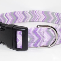 Purple Chevron Dog Collar