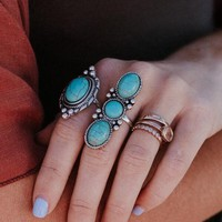 Seven Wonders Turquoise Ring