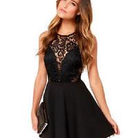 LM Boutique Sale New Sexy Black Lace Dress Small 2 Day Free Shipping
