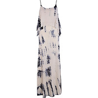 River Island Womens Beige tie dye layered cami maxi dress