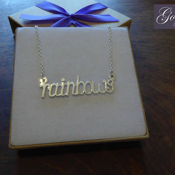 Silver Handmade Handwriting Pendant, Necklace
