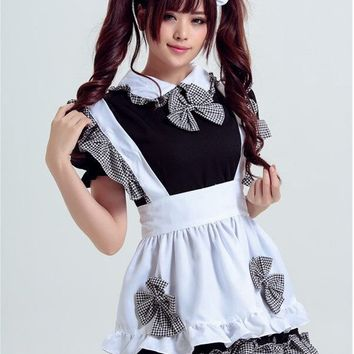 MOONIGHT New Arrival Maid Costume Cosplay Black-White Anime Cosplay Halloween Costume for Women