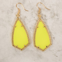 All Eyes On Me Earrings Yellow
