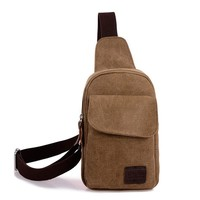 Men Canvas Stylish Casual Messenger Bags [10648211843]