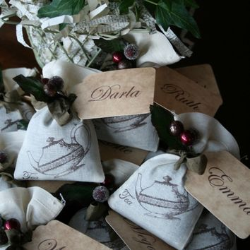 Thanksgiving Placecard - Gift -  favor - fall wedding - mulling spices