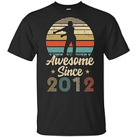 Vintage Flossing Awesome Since 2012 8th Birthday Gift Youth