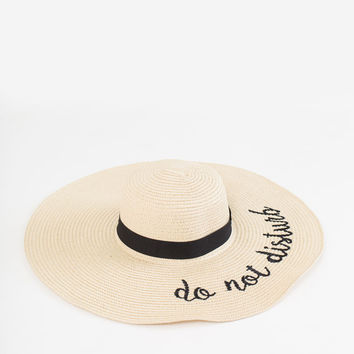 Alessia Do Not Disturb Light Straw Hat