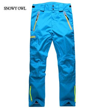 2017 unisex snowboarding pants lovers ski pants with straps sports trousers waterproof breathable warm h80