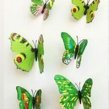12 Pcs Lot PVC 3D Butterfly Wall Stickers Decals Home Decor Poster for Kids Rooms Adhesive to Wall Decoration Adesivo De Parede