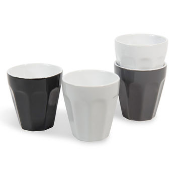 4 COFFEE BOX earthenware coffee cups | Maisons du Monde