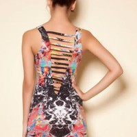 Motel Demelza Dress - Cosmic Boogie - Motel Rocks