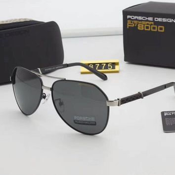One-nice™ Porsche Couples with color film polarizing sunglasses Black Silver I-A-SDYJ
